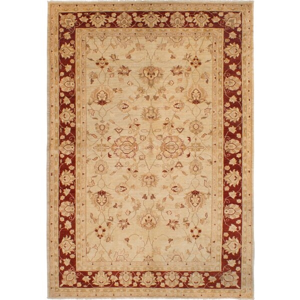 One-of-a-Kind Charlena Hand-Knotted Wool Cream Area Rug by Darby Home Co