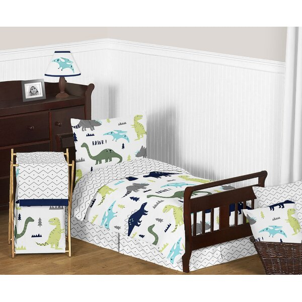 Mod Dinosaur 5 Piece Toddler Comforter Set by Sweet Jojo Designs