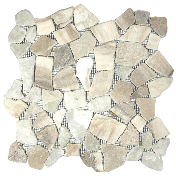 Rhine Random Sized Natural Stone Mosaic Tile in Mixed Quartz by CNK Tile