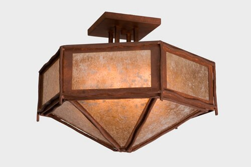 Worrell Hexagon Drop Semi Flush Mount by Millwood Pines