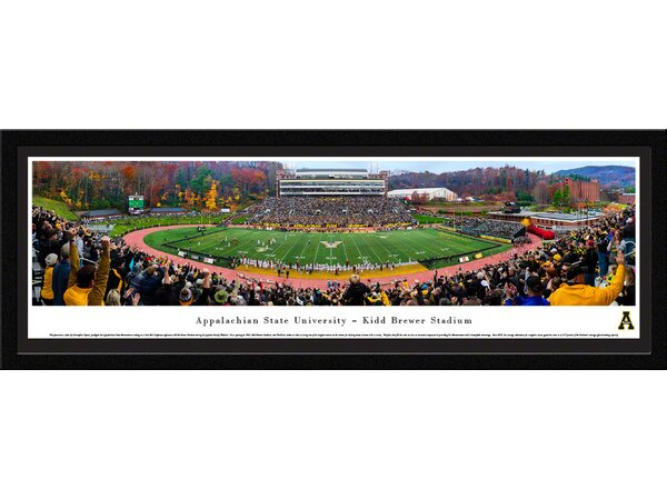 NCAA Appalachian State (50 Yd - Day) by Christopher Gjevre Framed Photographic Print by Blakeway Worldwide Panoramas, Inc