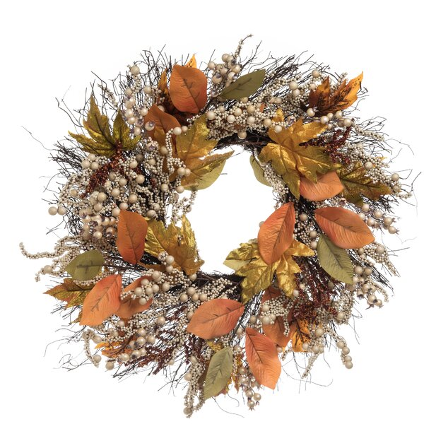 Aaru Leaf 24 Wreath by August Grove
