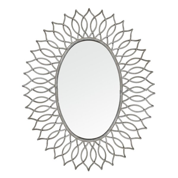 Wallace Sunburst Oversized Wall Mirror by Import Collection