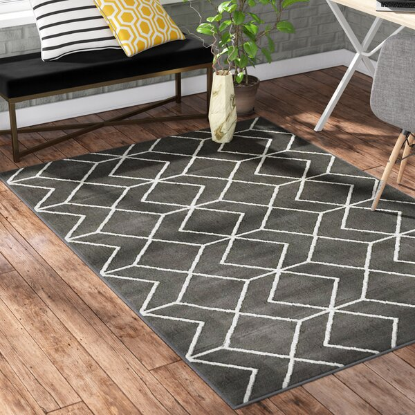 Abdo Kashan King Gray Area Rug by Wrought Studio