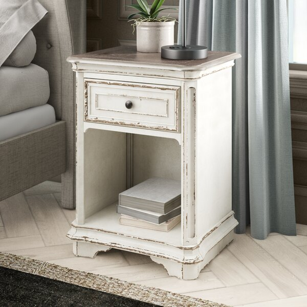 Treport 1 Drawer Nightstand by One Allium Way