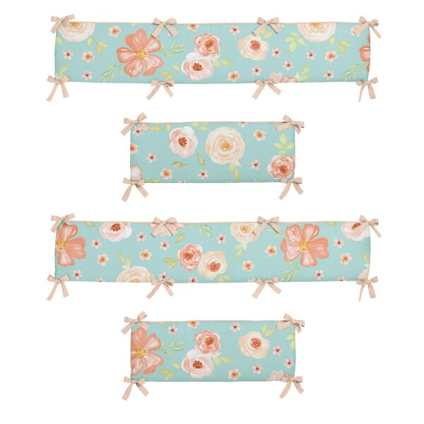 Watercolor Floral 4 Piece Crib Bumper Set by Sweet Jojo Designs
