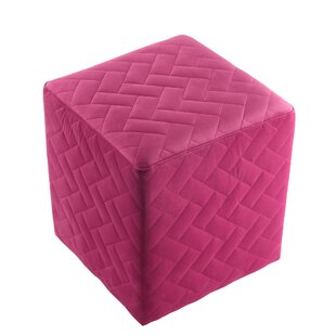 Grayson Brick Quilted Cube Ottoman