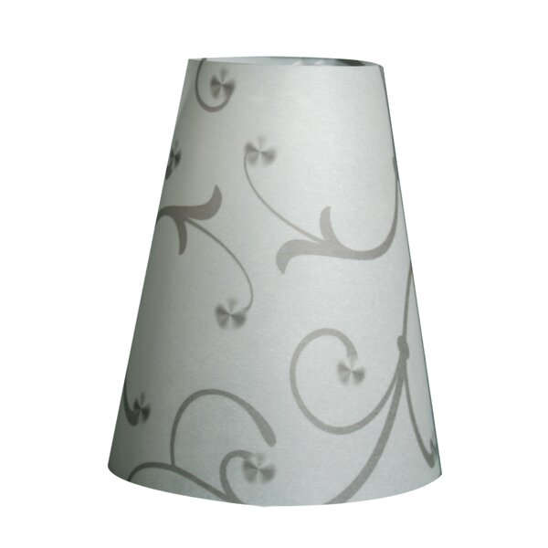 5.5 H Paper Empire Lamp shade ( Clip on ) in Gray (Set of 20)