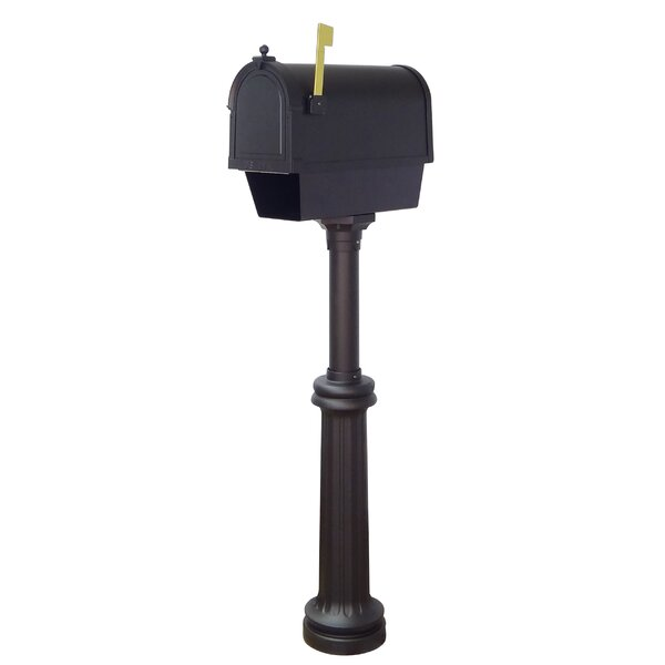 Berkshire Curbside Locking Mailbox with Bradford Post Included by Special Lite Products