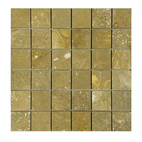 Honed 2 x 2 Natural Stone Mosaic Tile in Noce by QDI Surfaces