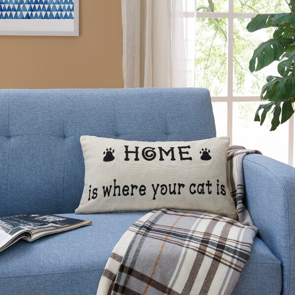 Pulido Cat Lover Jacquard Printed Decorative Toss Throw Pillow by Winston Porter