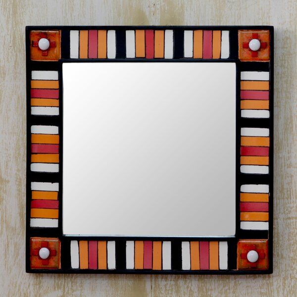 Sunshine Reflection Square Wall Mirror by Novica