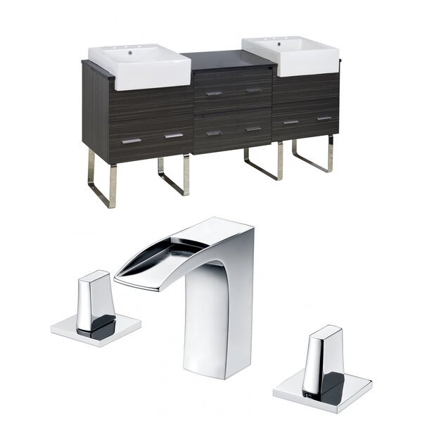Xena Farmhouse 72 Double Bathroom Vanity Set