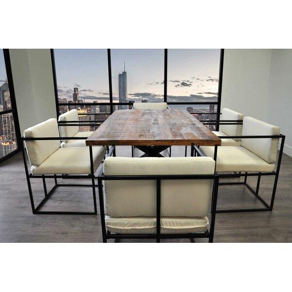 Scena Indoor Outdoor Deep Seated 7 Piece Dining Set By Solis Patio Discount