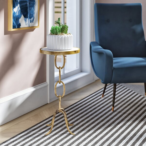 Lundin Stacked Chain End Table by Ivy Bronx Ivy Bronx
