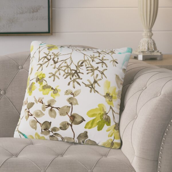 Dransfield Floral Outdoor Throw Pillow by Gracie Oaks