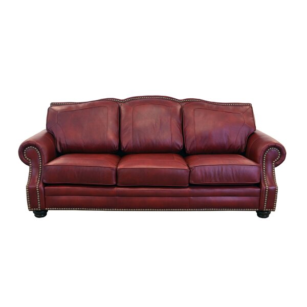 Special Saving Winchester Leather Sofa by Westland and Birch by Westland and Birch