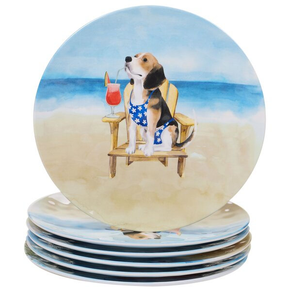 Cavanagh Dogs Melamine Dinner Plate (Set of 6) by Highland Dunes