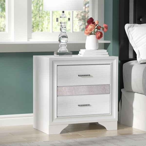 Alessandra 2 Drawer Nightstand by Willa Arlo Interiors