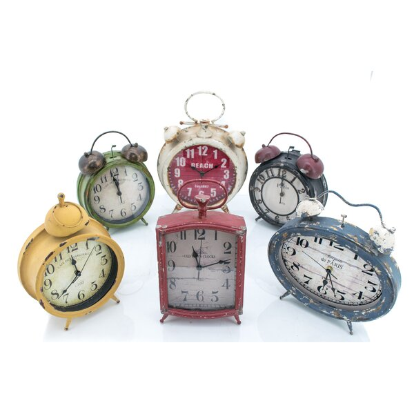 6 Piece Tabletop Clock Set by August Grove