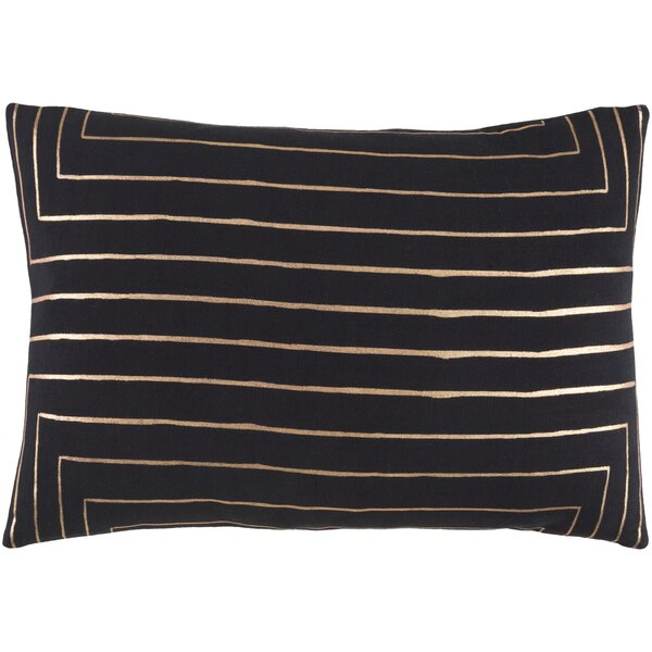 Steele Striped Cotton Lumbar Pillow by Willa Arlo Interiors