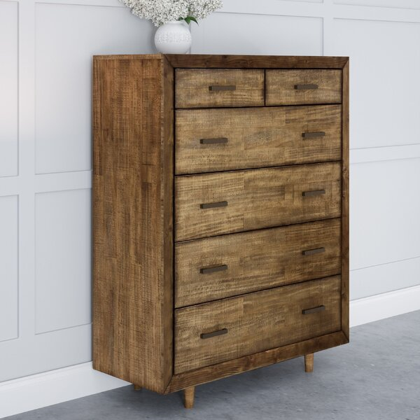 Cates Retro Wood 6 Drawer Chest by George Oliver