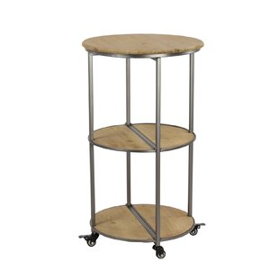 Ramos Round Collapsible Rolling Bar Cart