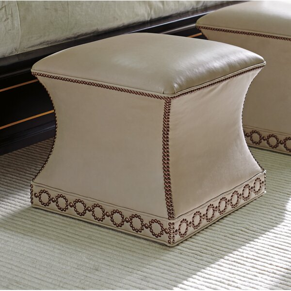 Carlyle Merino Leather Ottoman By Lexington