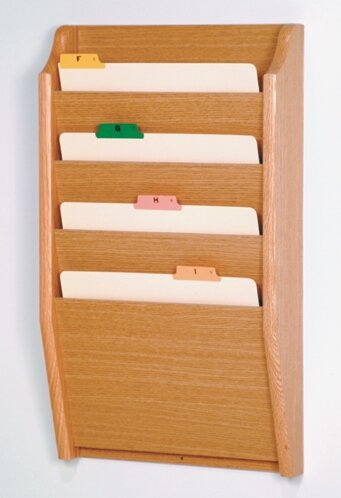 Four Pocket Chart Holder by Wooden Mallet