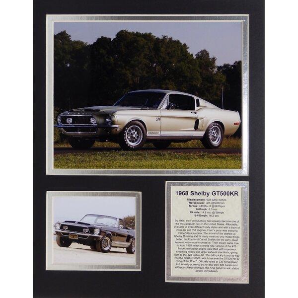 1968 Ford Shel Mustang GT500KR Framed Memorabilia by Legends Never Die