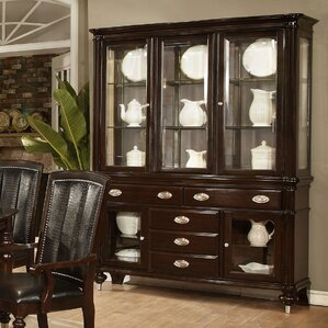 Balmers Lighted China Cabinet by Astoria Grand Buy