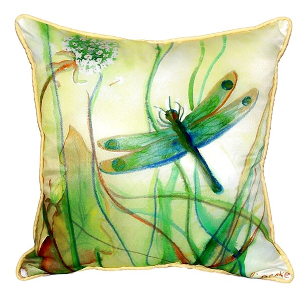 Walden Dragonfly Indoor/Outdoor Throw Pillow by August Grove