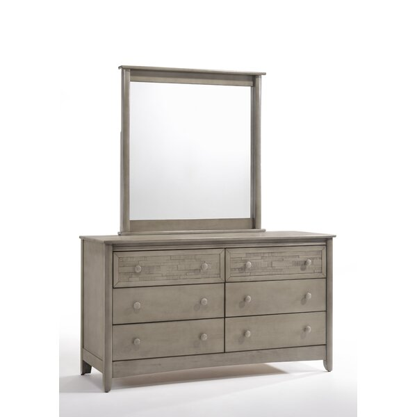 Cape Cod Secrets 6 Drawer Double Dresser with Mirror by Night & Day Furniture