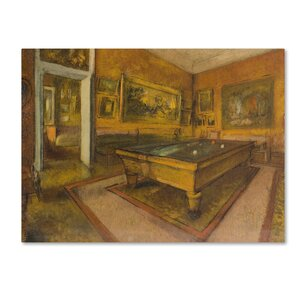 'Billiard Room At Menilhubert' Print on Wrapped Canvas by Trademark Fine Art