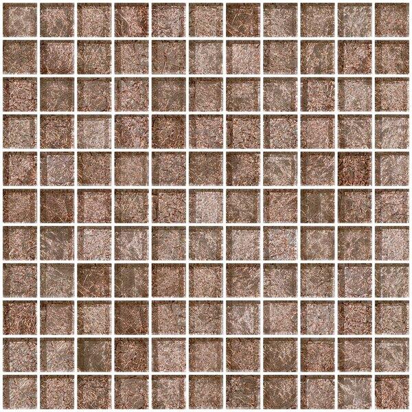 1 x 1 Glass Mosaic Tile in Mocha Pearl by Susan Jablon