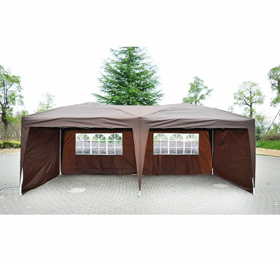 Haddox 10 Ft. W x 19.5 Ft. D Steel Pop-Up Canopy by Mercury Row
