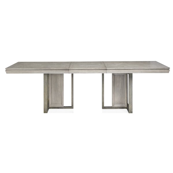 Eichhorn Double Pedestal Extendable Dining Table by Brayden Studio
