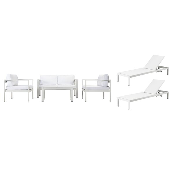 Hillwood 6 Piece Sofa Set with Cushions by Rosecliff Heights