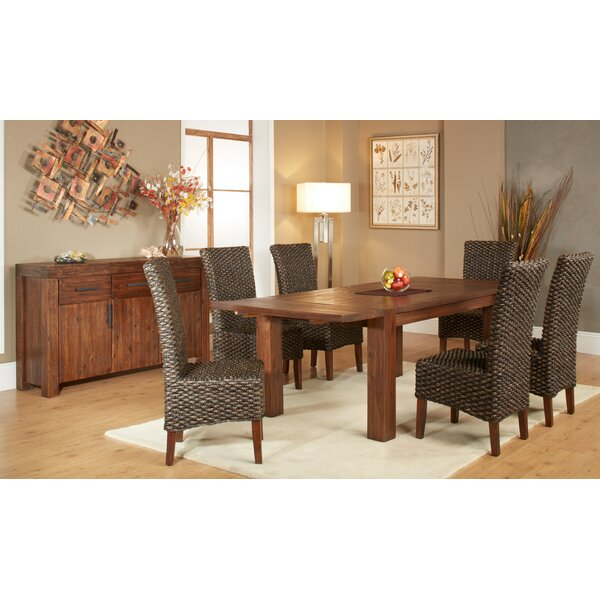 Gibson 7 Piece Extendable Solid Wood Dining Set by Loon Peak