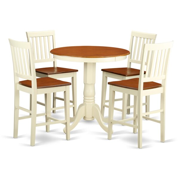 Eden 5 Piece Counter Height Pub Table Set By Wooden Importers Bargain