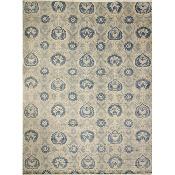 One-of-a-Kind Lona Hand-Knotted Wool Gray/Ivory Area Rug by Isabelline