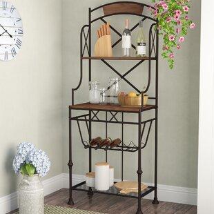 Callimont Wrought Iron Bakeru0027s Rack & Wrought Iron Wine Cabinet | Wayfair