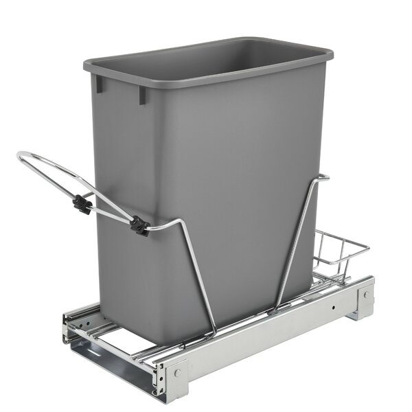 5 Gallon Pull Out/Under Counter Trash Can by Rev-A-Shelf
