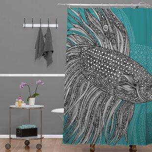 Beta Fish Shower Curtain