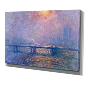 Charing Cross Bridge by Claude Monet Graphic Art on Wrapped Canvas by Wexford Home