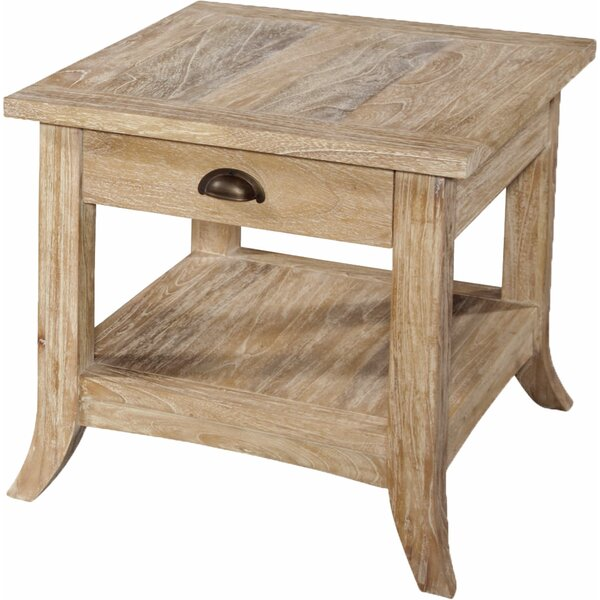 Fairwind End Table With Storage In , Rustic Bronze By Braxton Culler