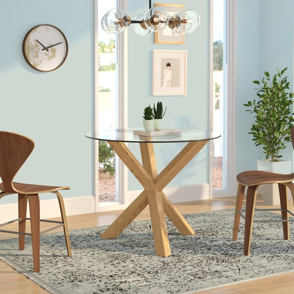 Hatmaker Solid Wood Dining Table by Wrought Studio