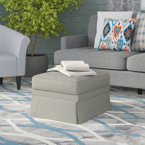 Foote Skirted Ottoman by Wayfair Custom Upholstery™