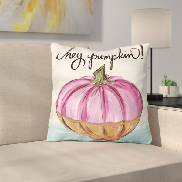 Tedesco Hey Pumpkin Throw Pillow by Latitude Run