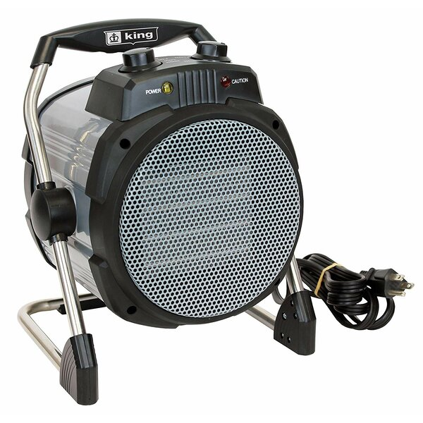 Portable 1,500 Watt Electric Fan Compact Heater By King Electric